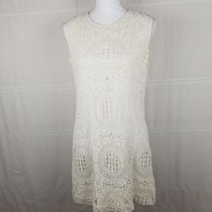 Katherine Barclay crochet dress lined size 4